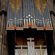 Huge pipe organ - Stock Photo
