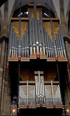 Huge pipe organ — Foto de Stock
