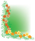 Refined Floral vignette. In Color. — Stock Vector