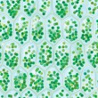 Stock Vector: Chlorophyll Cells seamless pattern
