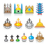 Religious Temples and Worship Places — Cтоковый вектор