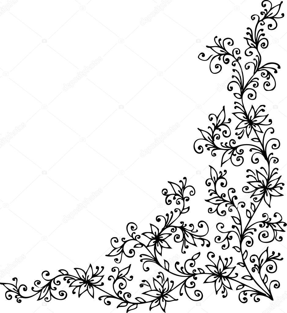 baroque pattern vignette stock vector photon 3814097. Black Bedroom Furniture Sets. Home Design Ideas