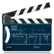 Stock Vector: Clapperboard