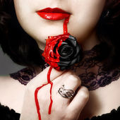 Black Rose — Stock Photo
