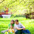 Family in the grass — Foto Stock