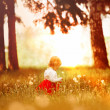Little girl in the forest — Stock Photo #3654707