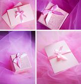 Pink present box — Stock Photo