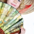 Little girl with fan — Stock Photo #2785685