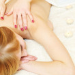Massage in spa salon — Stock Photo