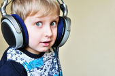 Boy wearing headphones — Stock Photo