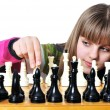 Teen with chess — Stock Photo