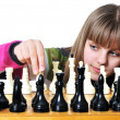 Stock Photo: Teen with chess