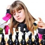 Teenage girl and chess — Stock Photo #2940048
