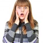 Shocked teen girl — Stock Photo