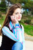 Chica pensativa dulce — Foto de Stock