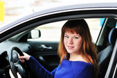 Teen driver in — Stock Photo