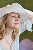 Women wearing straw hat — Stock Photo
