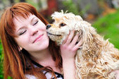 Dog's kiss — Stockfoto