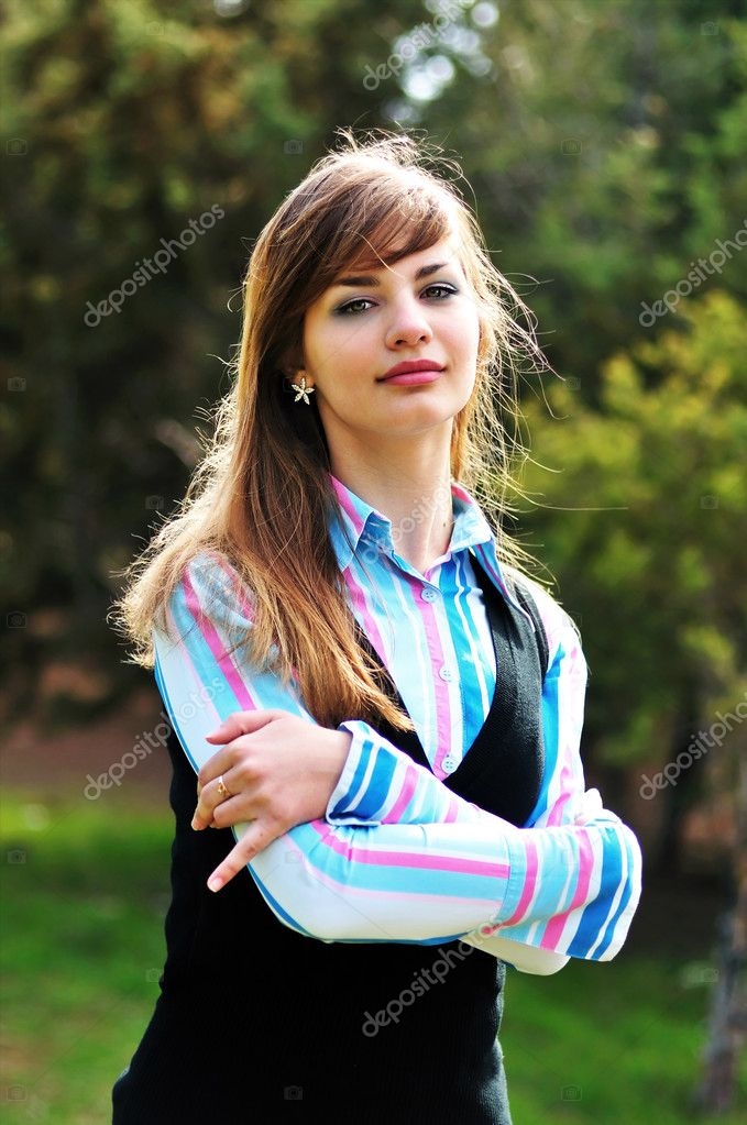 Sweet teen girl outdoors stock photo reanas 2940413 - Fresh teen girls ...