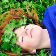 Rest in grass — Stockfoto