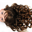 Curly awesome hair - Stock Photo