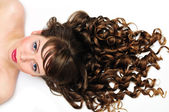 Curly awesome hair — Stock Photo