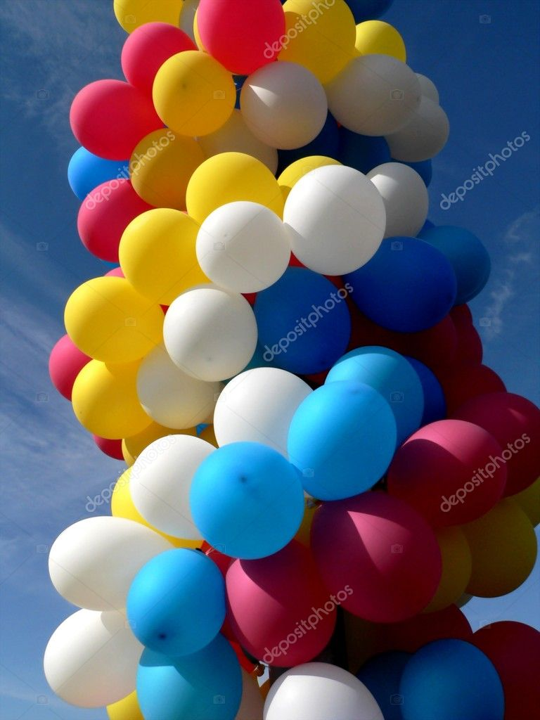 Varicoloured festival balloons — Stock Photo #2734772