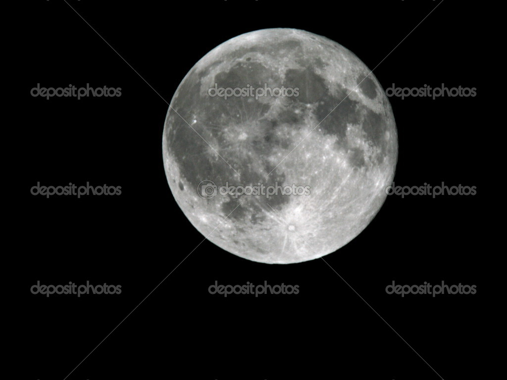 Full Moon on the night sky background 3 — Foto de Stock   #2798851