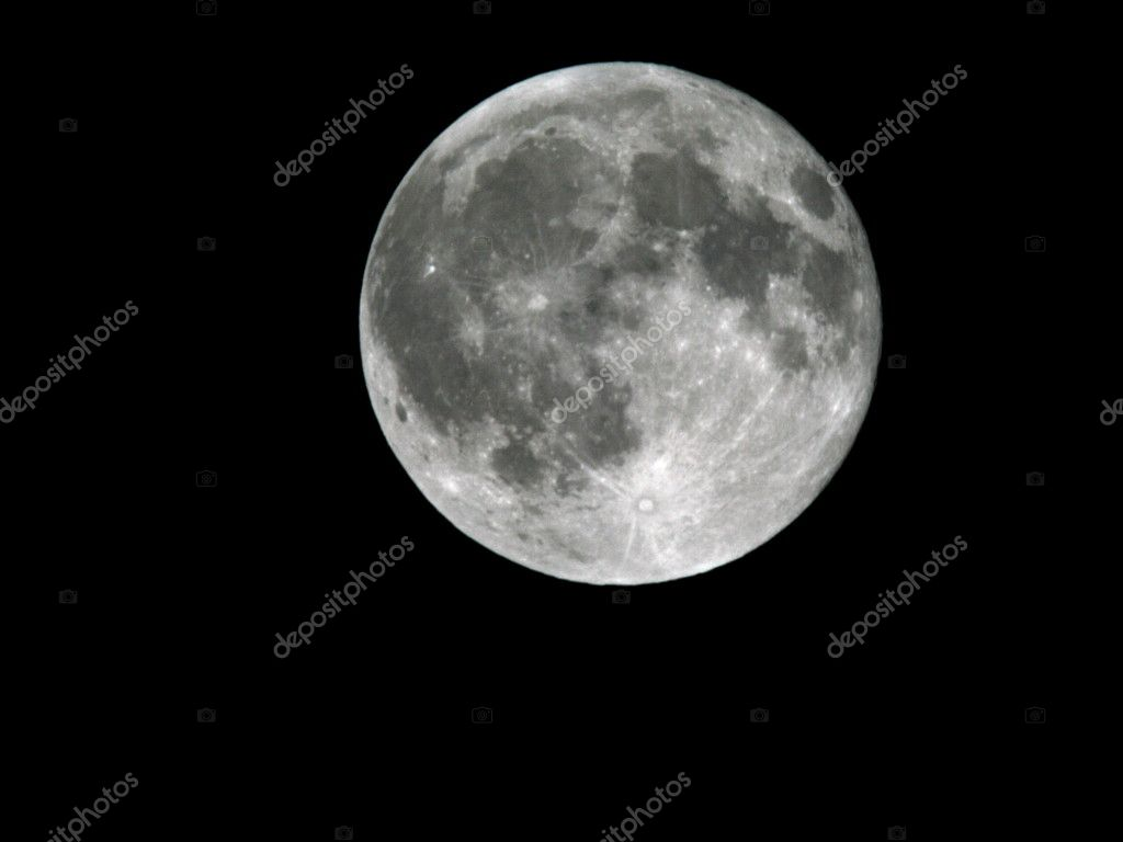 Full Moon on the night sky background 3 — Photo #2798851