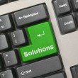 Keyboard - green key Solutions — Stock Photo