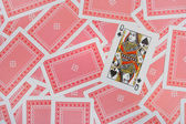 Queen on playing cards — Stock Photo