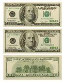 Notas de 100 dólares — Foto Stock