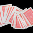 Playing cards (suits) — Stock Photo