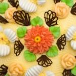 Cream cake, close-up — Stock Photo