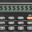 Dollar sign on calculator — Stock Photo