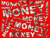 Words Money from dollars — Stock Photo