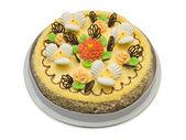 Big cream cake — Stock Photo
