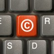 Keyboard, key with Copyright symbol — Stock Photo #3923324