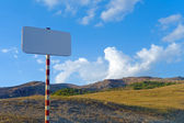 Clear sign in mountains — Stock Photo