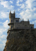 Old castle on cliff — Stock Photo