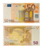 Banknote 50 euro — Stock Photo