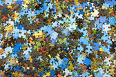 Pieces of puzzle — Stock Photo