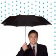 Royalty-Free Stock Photo: Men and umbrella