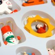 Christmas toys in box — Stock Photo