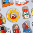Stock Photo: Christmas toys in box