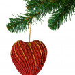 Royalty-Free Stock Photo: Christmas tree and heart