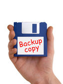 In mano il disco di backup — Foto Stock