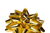 Macro of gold bow — Stock Photo
