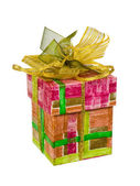 Gift with bow — Stock Photo