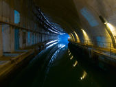 Old underground dockyard — Stock Photo